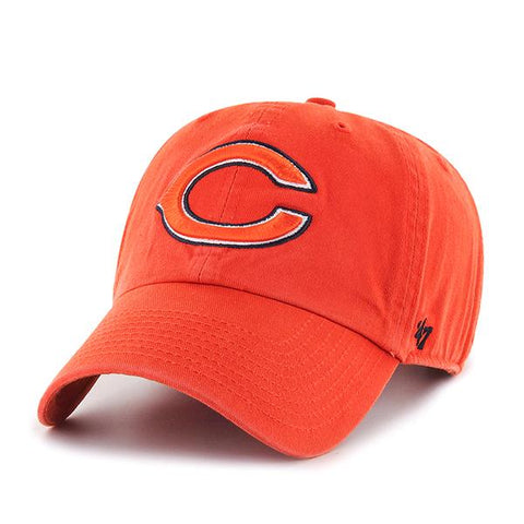 Shop Chicago Bears 47 Brand Orange Clean Up Adjustable Slouch Hat Cap