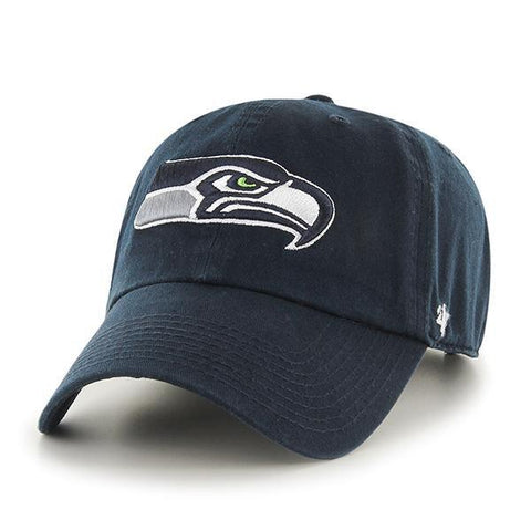 Shop Seattle Seahawks 47 Brand Navy Clean Up Adjustable Slouch Hat Cap - Sporting Up