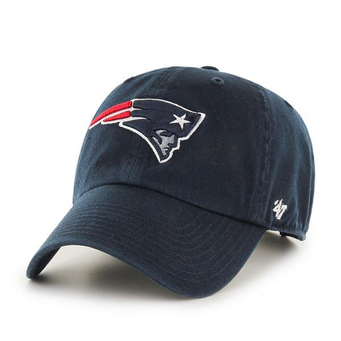 New England Patriots 47 Brand Navy Clean Up Adjustable Slouch Hat Cap
