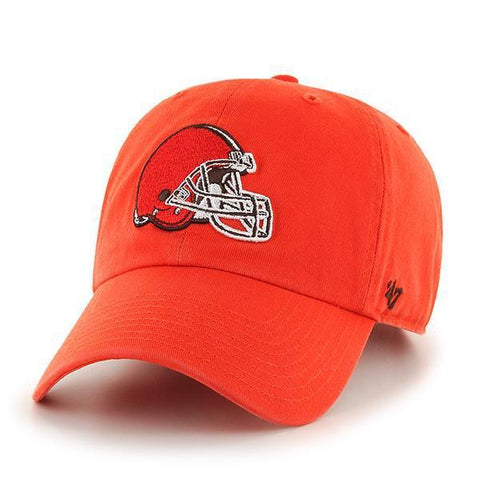 Cleveland Browns 47 Brand Orange Thunder Clean Up Adjustable Slouch Hat Cap