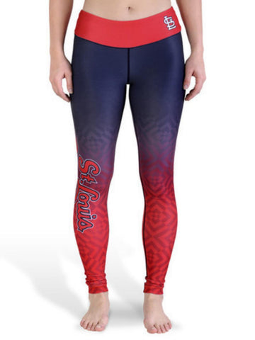 Shop St. Louis Cardinals FC Women Navy Red Workout Performance Leggings - Sporting Up