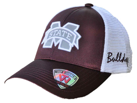 Shop Mississippi State Bulldogs TOW Women Maroon White Satina Mesh Adjustable Hat Cap - Sporting Up