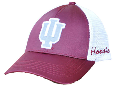 Shop Indiana Hoosiers TOW Women Dark Red White Satina Mesh Adjustable Strap Hat Cap