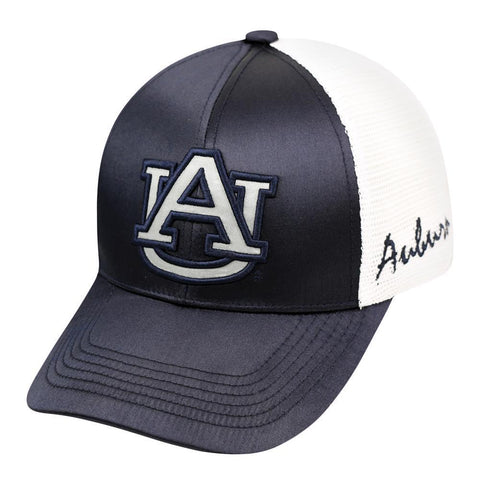 Shop Auburn Tigers TOW Women Navy White Satina Mesh Adjustable Strap Hat Cap - Sporting Up