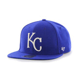 Kansas City Royals 47 Brand Royal Blue Wool Boxcar Adjustable Snapback Hat Cap - Sporting Up
