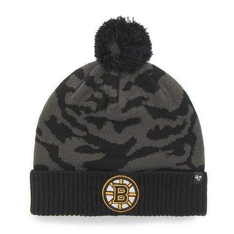 Shop Boston Bruins 47 Brand Charcoal Black Twenty Nine Cuffed Beanie Hat Cap