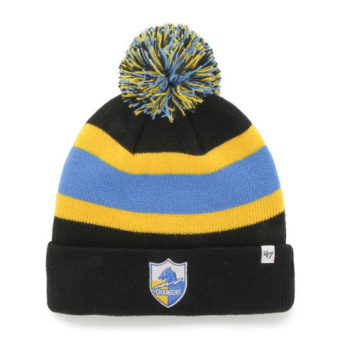 San Diego Chargers 47 Brand Black Breakaway Retro 1961 Poofball Beanie Hat Cap