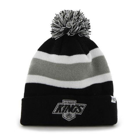 Shop Los Angeles Kings 47 Brand Black Breakaway Retro 1988 Poofball Beanie Hat Cap - Sporting Up