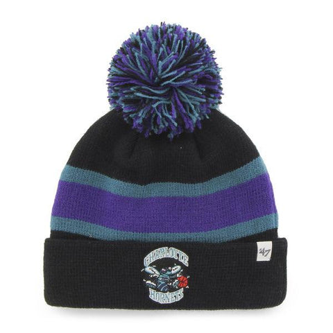 Shop Charlotte Hornets 47 Brand Black Breakaway Retro 1988 Poofball Beanie Hat Cap - Sporting Up