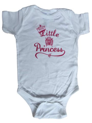 Sacramento Kings SAAG Infant Girls White Little Princess One Piece Outfit