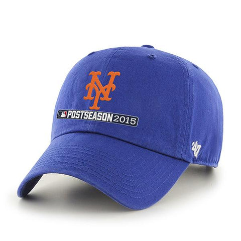 Shop New York Mets 47 Brand 2015 MLB Postseason Playoffs Blue Relax Adj Hat Cap