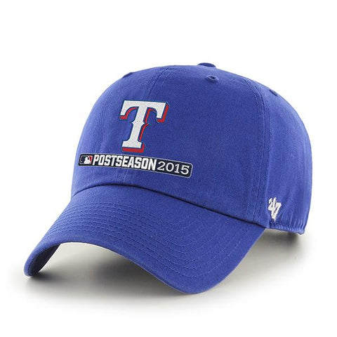 Shop Texas Rangers 47 Brand 2015 Postseason Playoffs Blue Clean Up Relax Hat Cap - Sporting Up