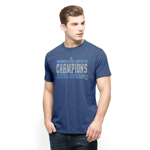 Shop Kansas City Royals 47 Brand 2015 AL Central Division Champs Postseason T-Shirt