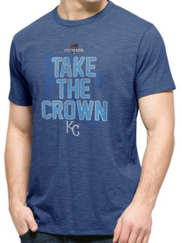 Shop Kansas City Royals 47 Brand 2015 MLB Postseason Playoffs Take the Crown T-Shirt - Sporting Up