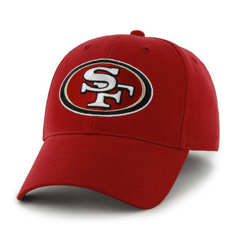 new concept 3ff12 572ca San Francisco 49ers 47 Brand YOUTH Red Basic MVP Adjustable Hat Cap