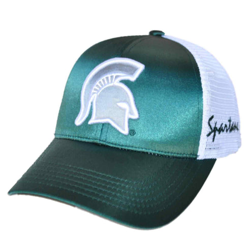 Shop Michigan State Spartans TOW Women Green Satina Mesh Adjustable Strap Hat Cap - Sporting Up