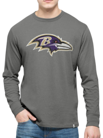 Baltimore Ravens 47 Brand Wolf Grey Long Sleeve Cotton Flanker T-Shirt