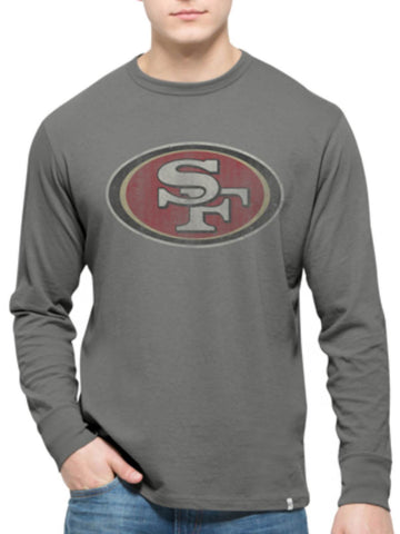 San Francisco 49ers 47 Brand Wolf Grey Long Sleeve Cotton Flanker T-Shirt