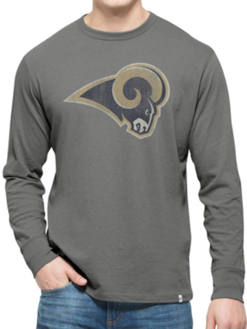 Los Angeles Rams 47 Brand Wolf Grey Long Sleeve Cotton Flanker T-Shirt