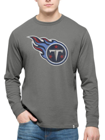 Shop Tennessee Titans 47 Brand Wolf Grey Long Sleeve Cotton Flanker T-Shirt