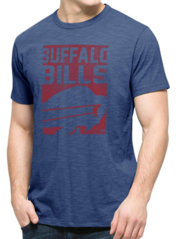 Shop Buffalo Bills 47 Brand Bleacher Blue Block Logo Soft Cotton Scrum T-Shirt