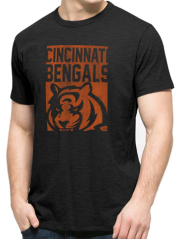 Shop Cincinnati Bengals 47 Brand Black Block Logo Soft Cotton Scrum T-Shirt