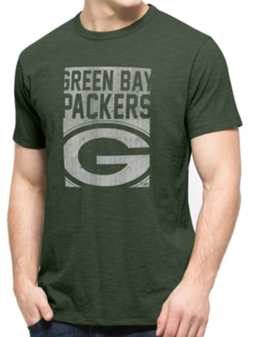 Shop Green Bay Packers 47 Brand Green Block Logo Soft Cotton Scrum T-Shirt