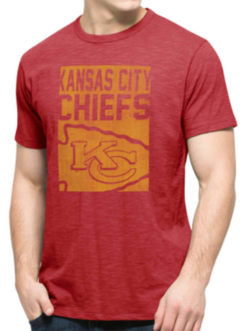 Shop Kansas City Chiefs 47 Brand Red Block Logo Soft Cotton Scrum T-Shirt - Sporting Up