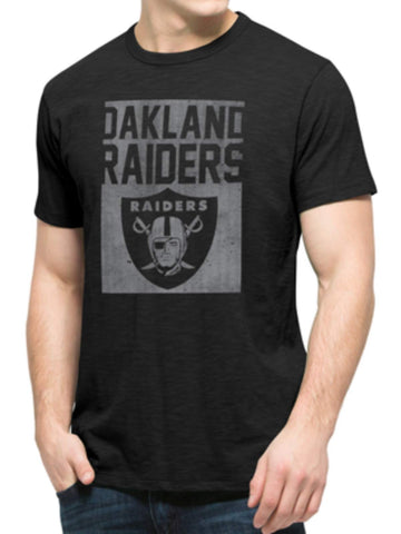 Oakland Raiders 47 Brand Black Block Logo Soft Cotton Scrum T-Shirt