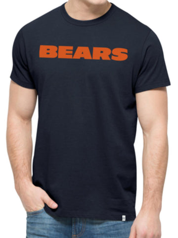 Chicago Bears 47 Brand Fall Navy Crosstown MVP Soft Cotton T-Shirt - Sporting Up