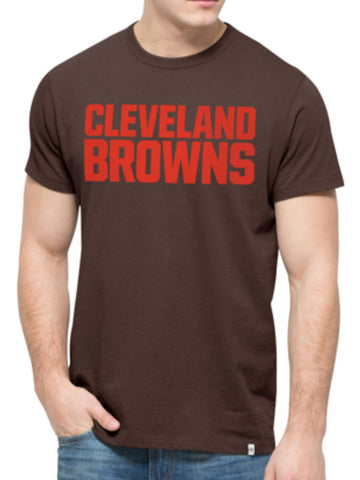 Shop Cleveland Browns 47 Brand Brown Crosstown MVP Soft Cotton T-Shirt - Sporting Up