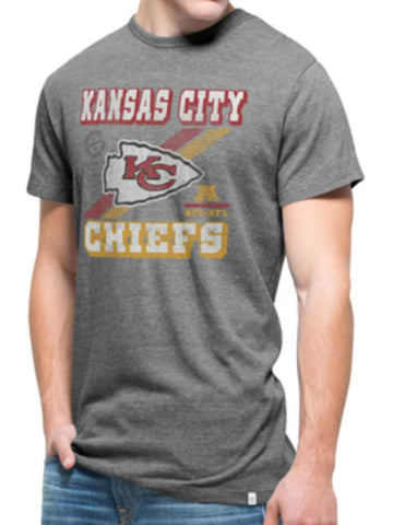 Shop Kansas City Chiefs 47 Brand Gray Legacy Tri-State Vintage Triblend T-Shirt