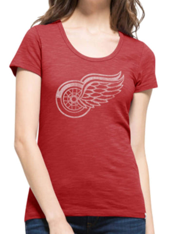 Shop Detroit Red Wings 47 Brand Women Rescue Red Scoop Neck Scrum T-Shirt - Sporting Up