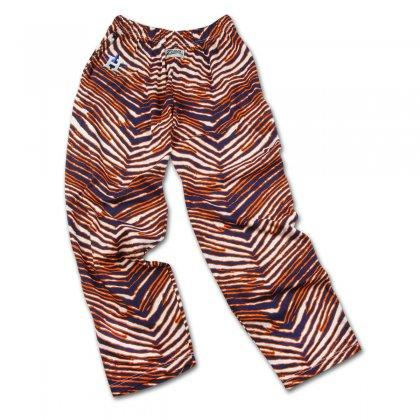 Houston Astros ZUBAZ Navy Orange Vintage Style Striped Zebra Pants