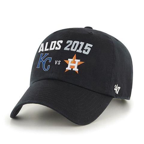 Shop Kansas City Royals Houston Astros 47 Brand 2015 Postseason ALDS Adjust Hat Cap