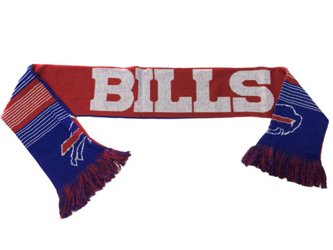 Buffalo Bills FC Blue Red Reversible Split Logo Acrylic Knit Winter Scarf
