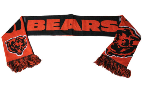 Shop Chicago Bears FC Navy Orange Reversible Split Logo Acrylic Knit Winter Scarf - Sporting Up