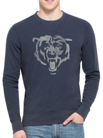 Shop Chicago Bears 47 Brand Blue End-Grain Crew Thermal Long Sleeve T-Shirt