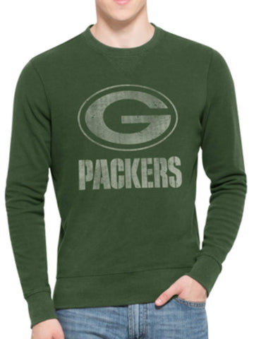 Shop Green Bay Packers 47 Brand Green End-Grain Crew Thermal LS T-Shirt