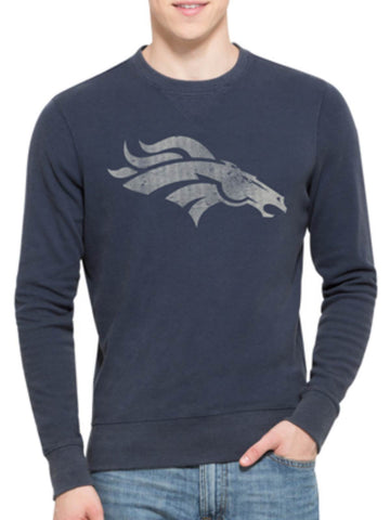 Shop Denver Broncos 47 Brand Blue End-Grain Crew Thermal Long Sleeve T-Shirt - Sporting Up