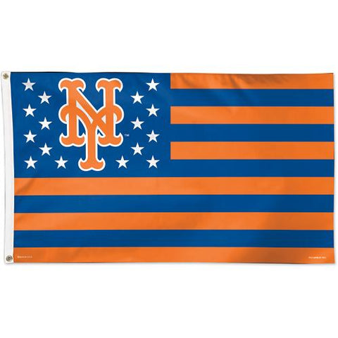 New York Mets WinCraft Stars & Stripes Deluxe Indoor Outdoor Flag (3' x 5')