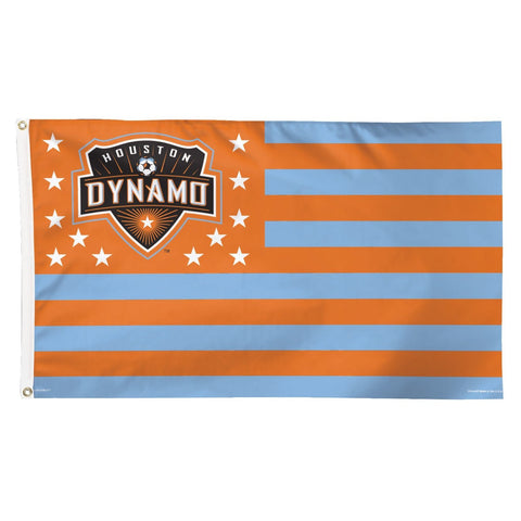 Shop Houston Dynamo WinCraft Stars & Stripes Deluxe Indoor Outdoor Flag (3' x 5') - Sporting Up