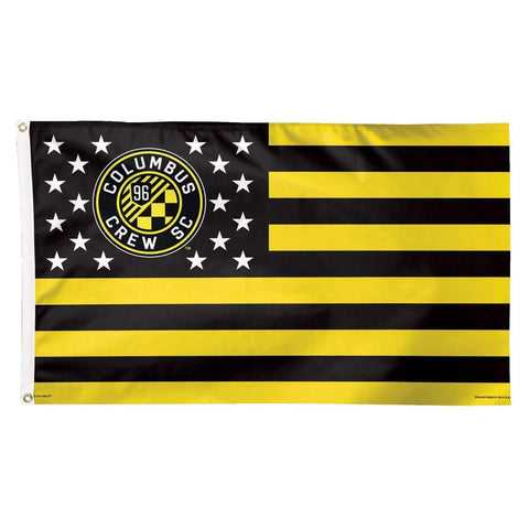 Shop Columbus Crew SC WinCraft Stars & Stripes Deluxe Indoor Outdoor Flag (3' x 5')