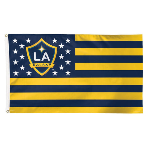 Shop Los Angeles Galaxy WinCraft Stars & Stripes Deluxe Indoor Outdoor Flag (3' x 5') - Sporting Up