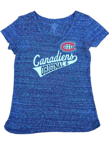 Shop Montreal Canadiens SAAG Women Navy Lightweight Short Sleeve V-Neck T-Shirt - Sporting Up