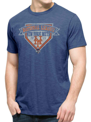 Shop New York Mets 47 Brand 2015 NLCS MLB Postseason Blue Scrum T-Shirt - Sporting Up