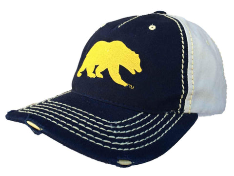 Shop Cal Bears Retro Brand Navy Beige Stitched Worn Style Snapback Hat Cap - Sporting Up