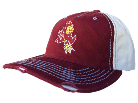 Shop Arizona State Sun Devils Retro Brand Red Beige Stitched Worn Snapback Hat Cap