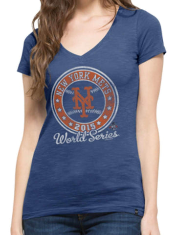 Shop New York Mets 47 Brand Women 2015 World Series Baseball Scrum T-Shirt
