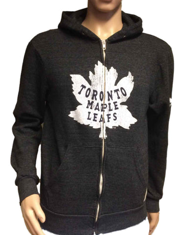 Shop Toronto Maple Leafs Retro Brand Gray TriBlend Fleece Zip Up Hoodie Jacket